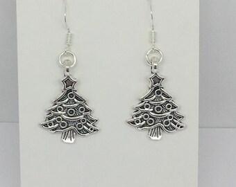 a09268dd5 Christmas tree earrings, festive earrings, Christmas earrings, earrings for  Christmas,