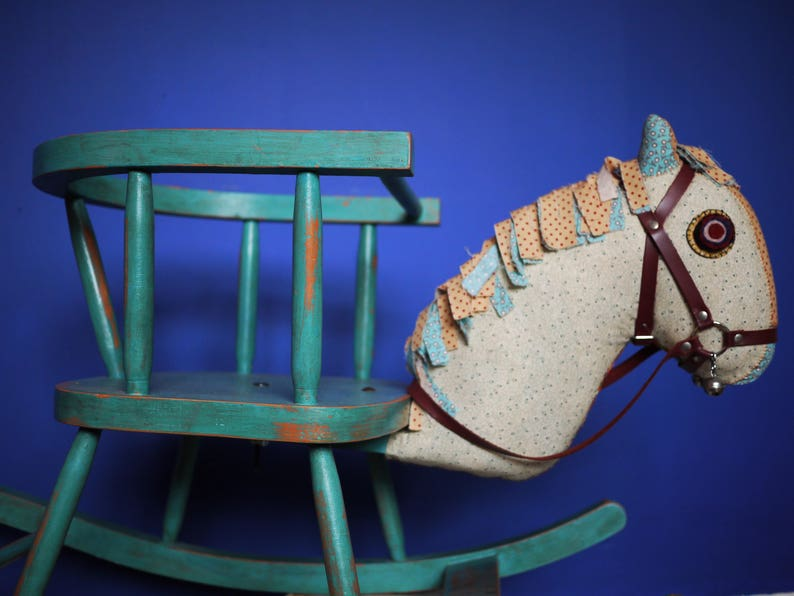 Bespoke Childrens Wooden Rocking Horse Chair