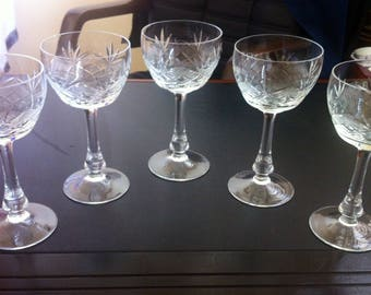 Bohemia Czech crystal wine glasses