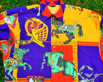 Sale \u2022 GIANNI VERSACE shirt by Gianni Versace shirt extremely rare Vintage Gianni Versace baroque betty boop prints very unique icon versace