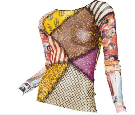 Jean Paul Gaultier Transparent Patchwork Mesh Shee
