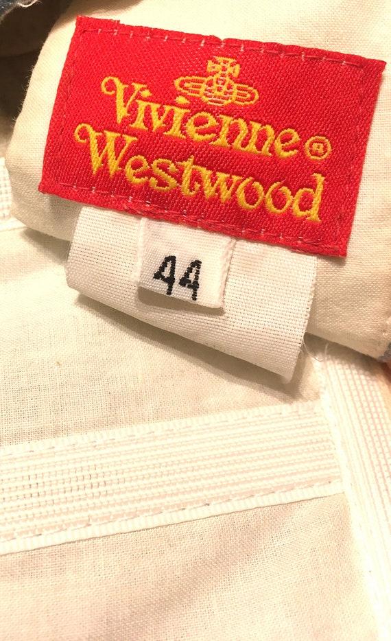 Iconic Vivienne Westwood 90s Baby Blue Velvet Vic… - image 8