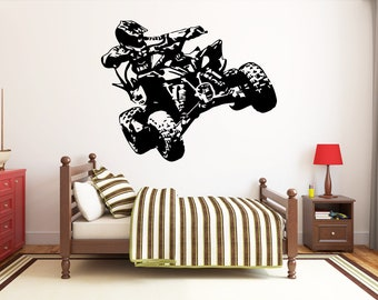 DETAILED ATV 4 FOUR WHEELER GRAPHIC DECAL STICKER ART CAR WALL DECOR