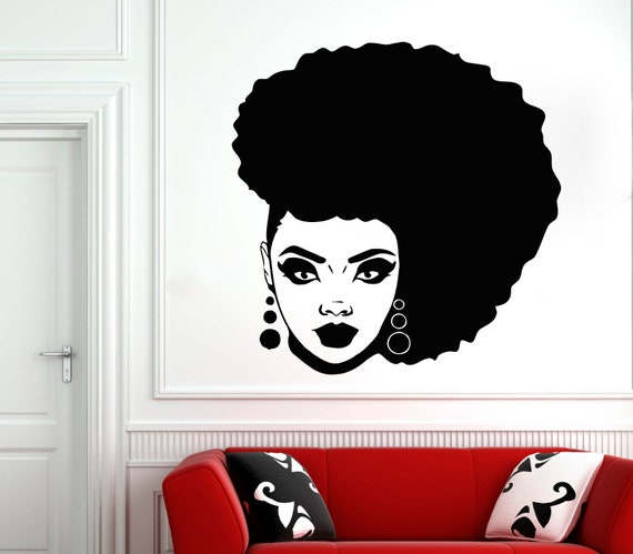 Wall Decal Woman Africa Lady Tribe Ethiopia Beauty vinyl room M181