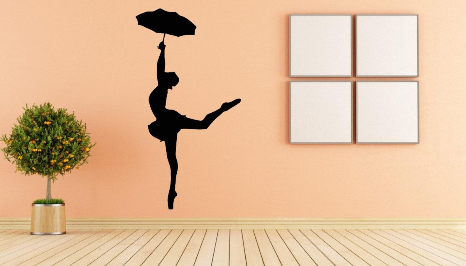 ballet, dance, ballet tutu, pointe shoes, ballet school wall decal window sticker handmade 1556