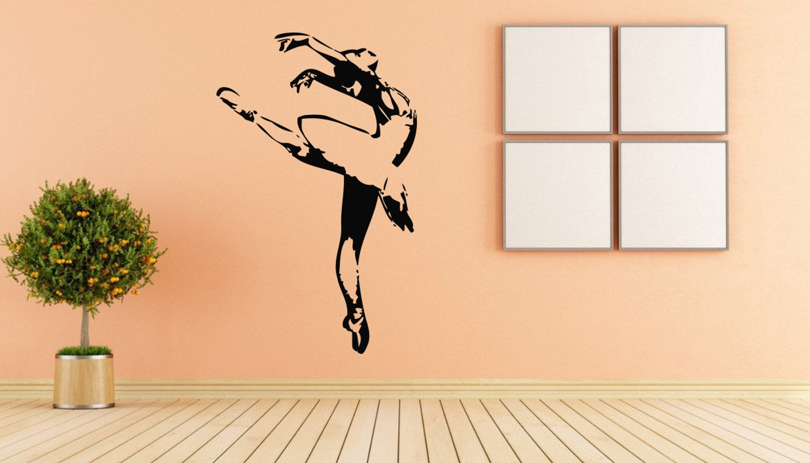 ballet, dance, ballet tutu, pointe shoes, ballet school wall decal window sticker handmade 1552