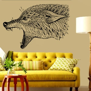 Wolf Beast Werewolf Predator Howl Animals Wall decor Wall Decal Car sticker Window Sticker Vinyl sticker Handmade 46