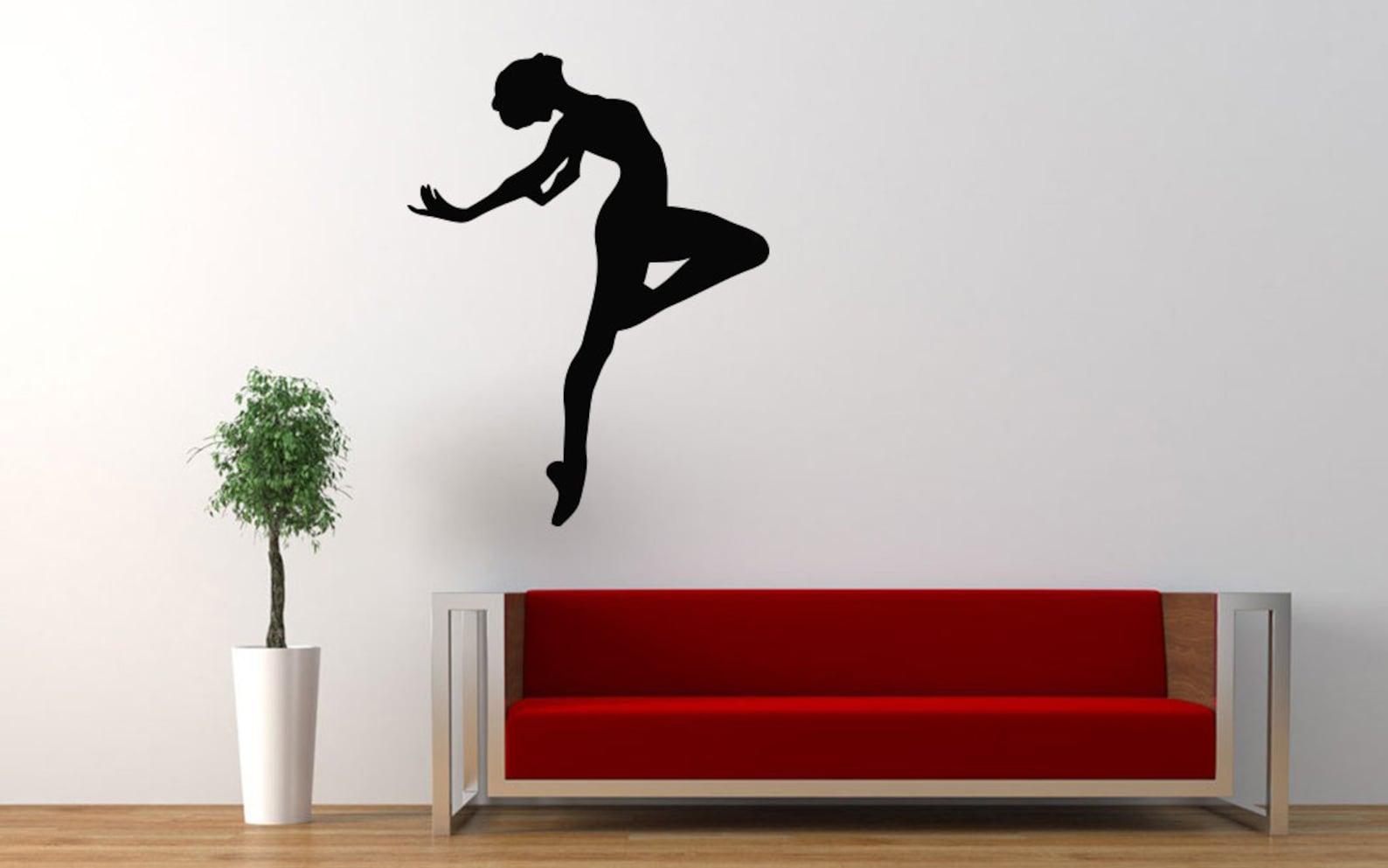 ballet, dance, ballet tutu, pointe shoes, ballet school wall decal window sticker handmade 1602