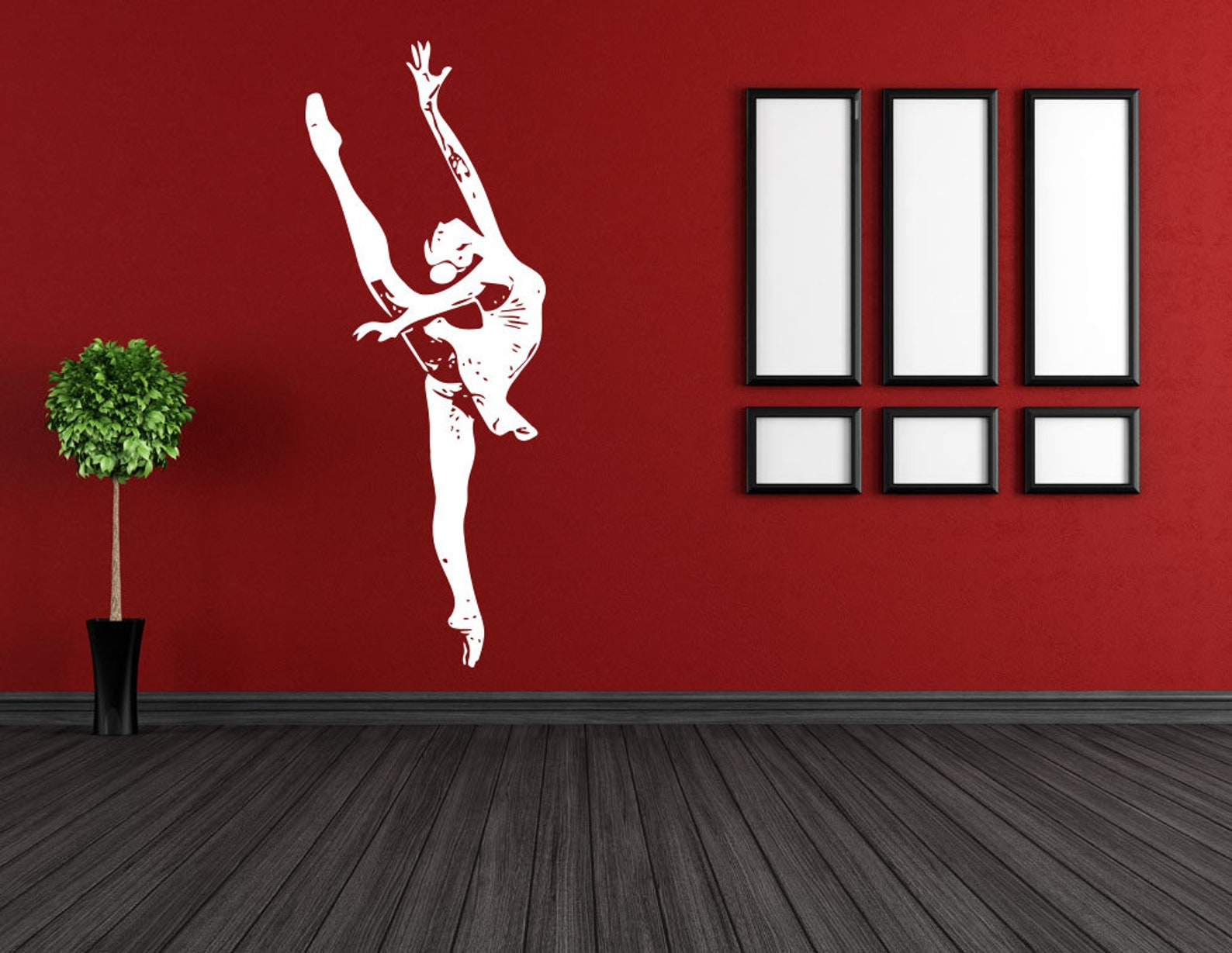 ballet, dance, ballet tutu, pointe shoes, ballet school wall decal window sticker handmade 1585