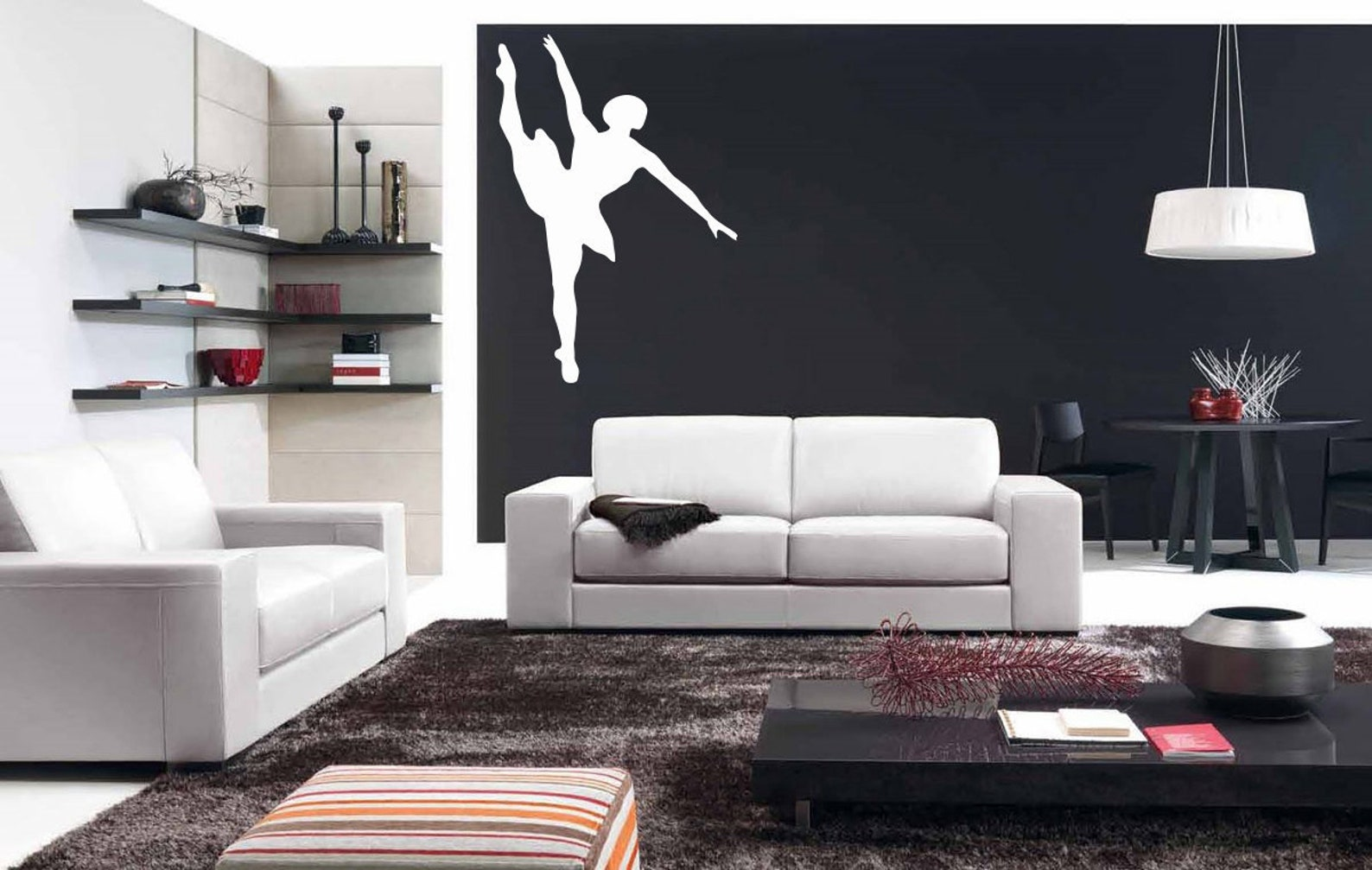 ballet, dance, ballet tutu, pointe shoes, ballet school wall decal window sticker handmade 1546