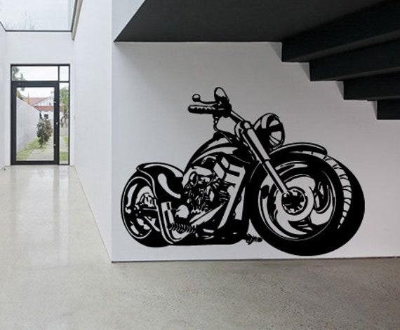 Motorcycle Chopper Children Kids Vinyl Sticker Bedroom Home Decal Wall Art 307