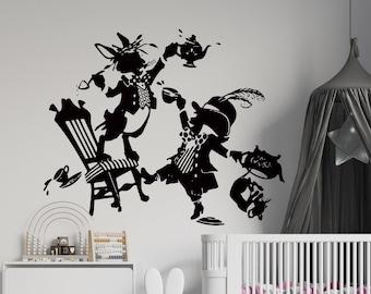 Alice in Wonderland Wall Decal | Alice Wall Decor | Cartoon Wall Sticker AL3