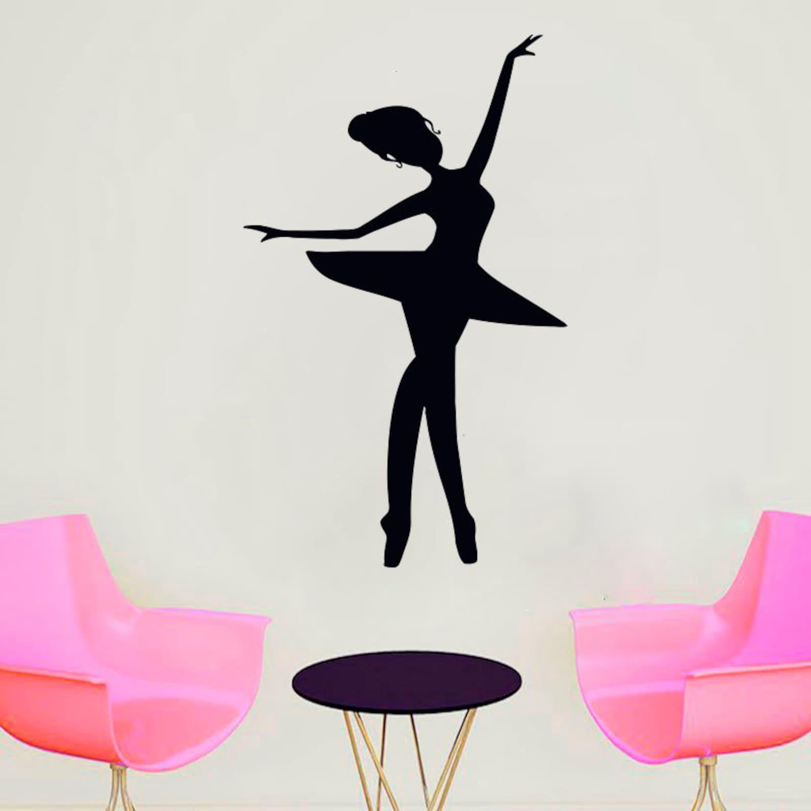 ballet, dance, ballet tutu, pointe shoes, ballet school wall decal window sticker handmade z52