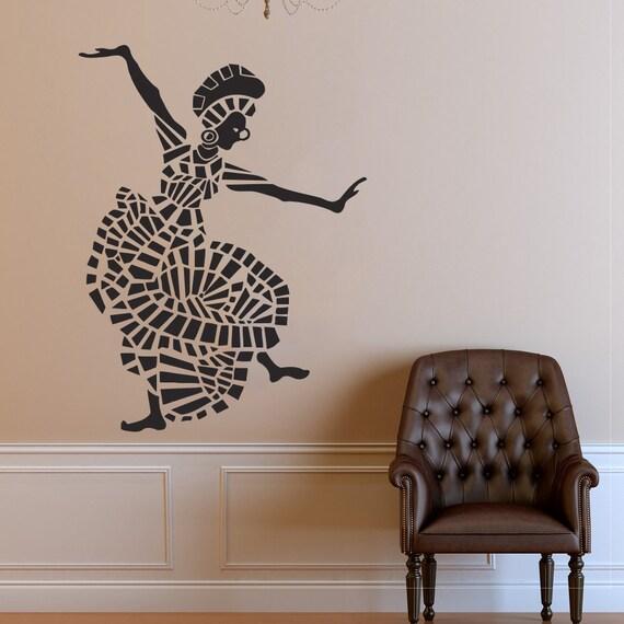 Salon Style Africain style africain wall sticker fenêtre autocollant salon de beauté