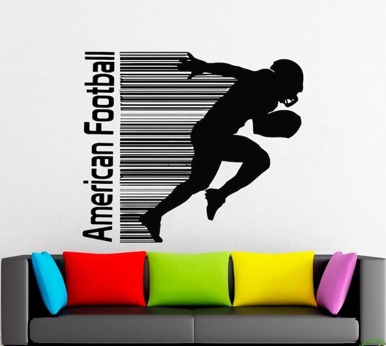 American football sport,Wall decor,Wall Decal,Window Sticker,Vinyl sticker Handmade 2359 game ball rugby