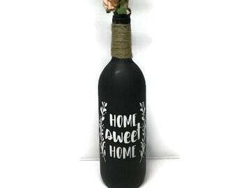 Home Sweet Home Wine Bottle
