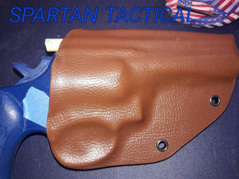Smith and Wesson K Frame Custom Kydex Holster Tan Leather Texture plus 11  more colors to choose from