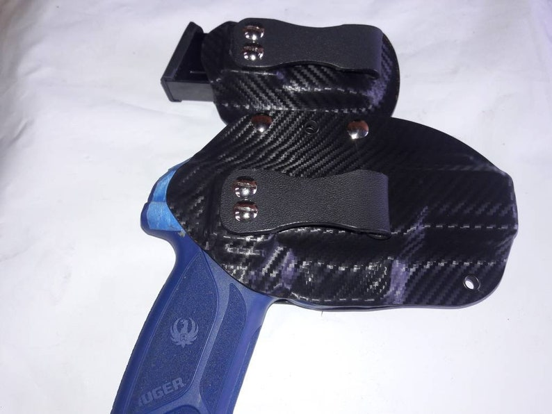 Bersa Thunder 380 Modular Gun and Magazine Kydex Holster Black Carbon Fiber  plus 11 more colors to choose from