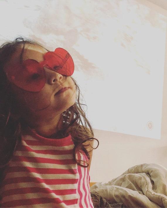 229b5b000f Heart shaped rimless sunglasses
