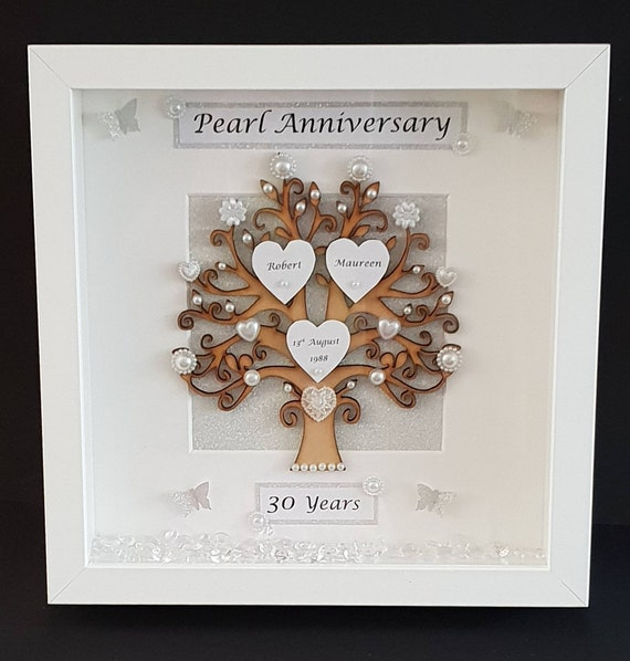 30th Pearl Wedding Anniversary Frame