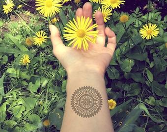 Mandala Tattoo, Mandala Temporary tattoo, Bohemian tattoo, Boho tattoos temporary. Mandala Tattoo, Mandalas Bohemian tattoo, Fake Tattoos