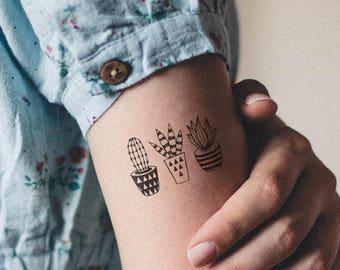 Cactus tattoo | Etsy