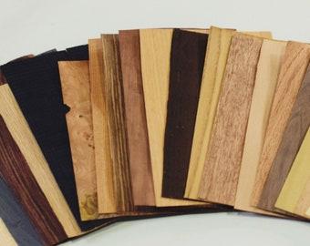 Wooden veneer set of 20 sheets , 0.6mm , wood craft , marquetry