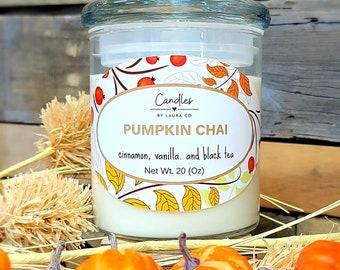 20 oz three-wick Candle Soy Pumpkin Chai Tumbler