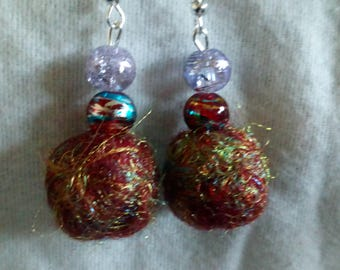Hand felted earrings