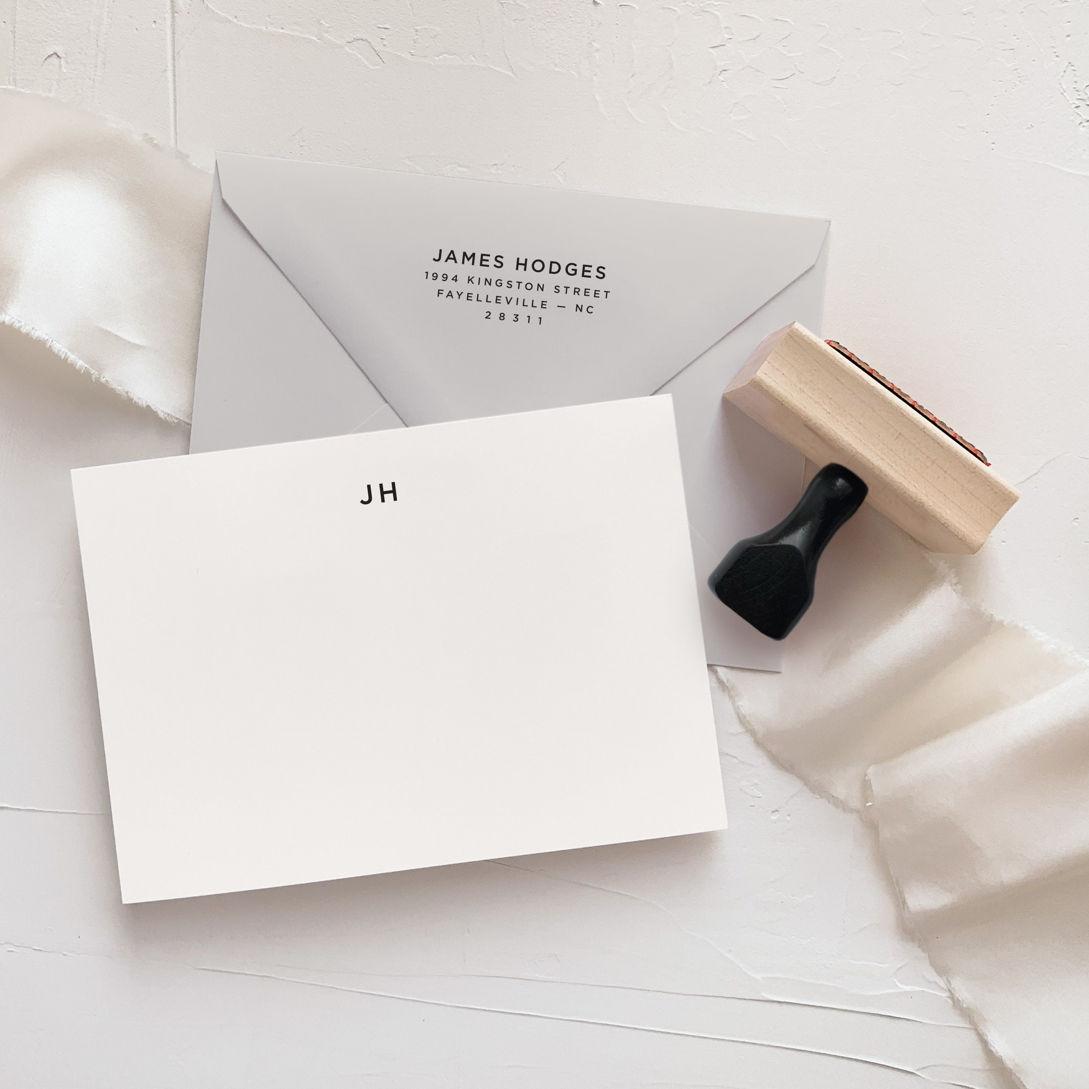 simple notecard set custom stationery set with rubber