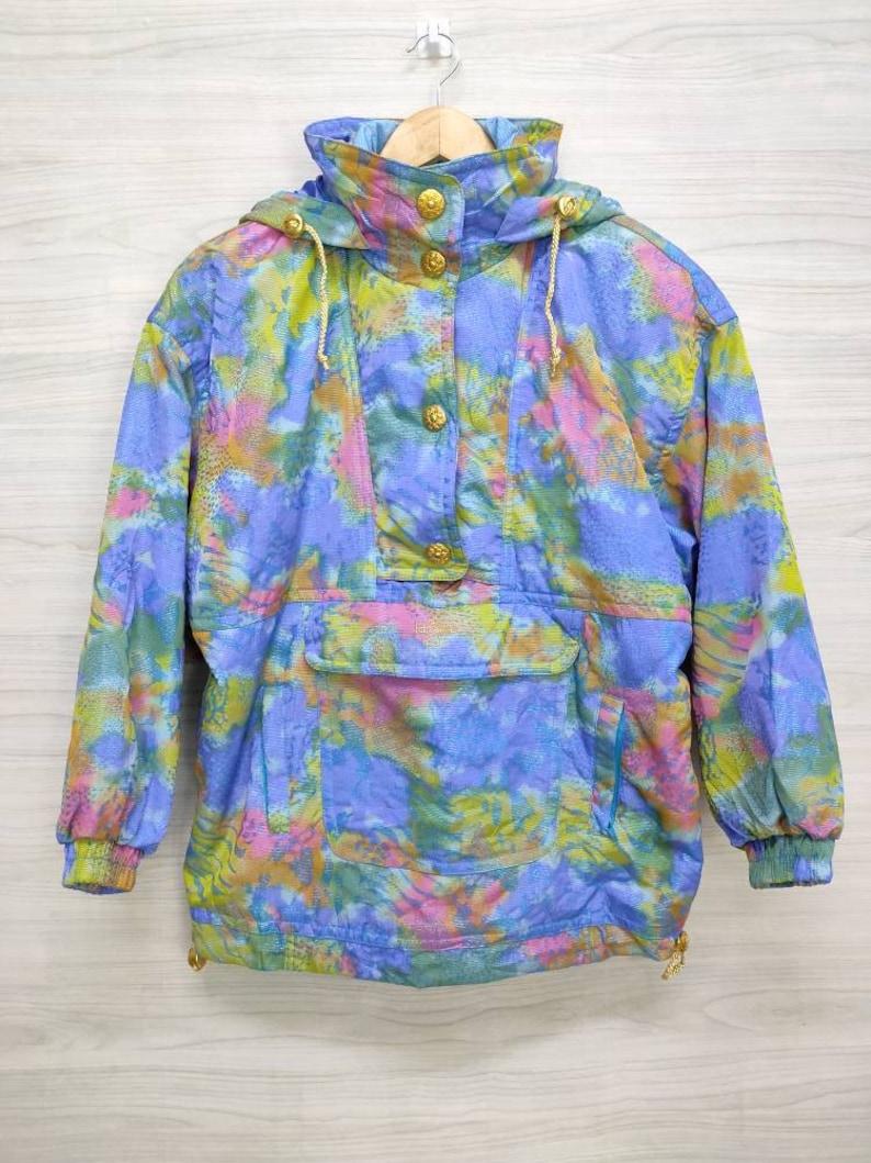 LAFONT Italy Jacket Vintage 90/'s Lafont Italy Winter Ski Wear Lafont Italy Rainbow Half Zip Up Jackets