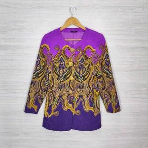 Vintage 90s Virgo Royalty Baroque Classic Gold Chain Luxury Buttondown Oxfords Shirt Size M