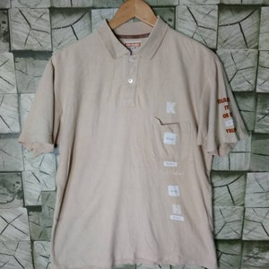 Paolo Roberto Polo Shirt Vintage 90s Paolo Roberto Italian Brand of Sports Top Tee Pocket Size L Large