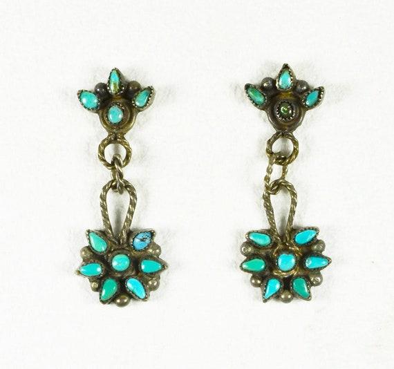 Native American Antique Delicate Zuni Earrings