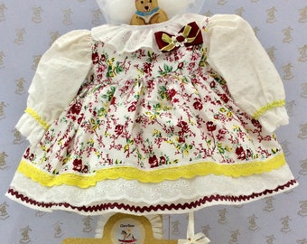 3-6m Baby girls dress & headband