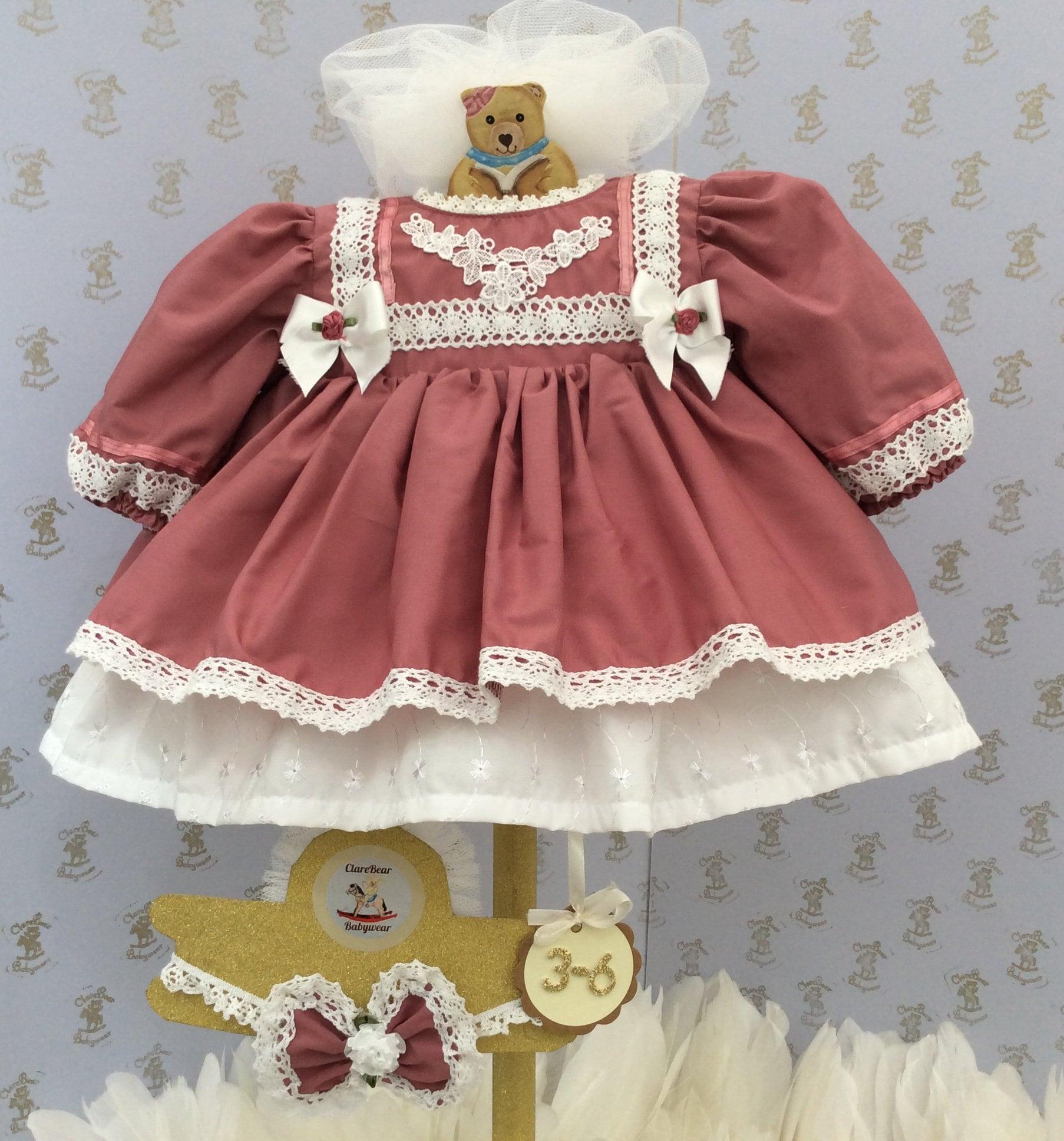 07329ae6b042 3-6m ready to ship Baby girls new Spanish style dress & | Etsy