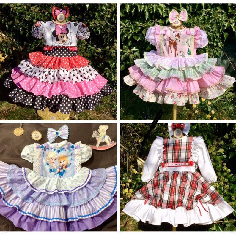 Vintage Spanish style outfits 3-6m Baby girls outfit ready to ship Ditsy print dress girl clothes Smocked dresses new smocked