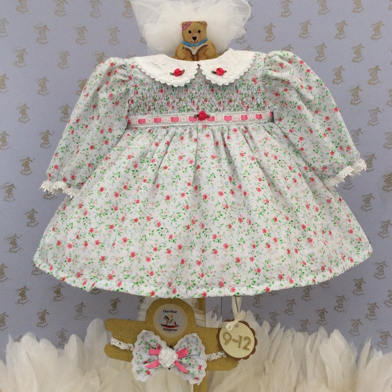 "DITSY FLORAL SKIRT /& MATCHING 3/"" BOW HEADBAND SET BABY GIRL NEW"