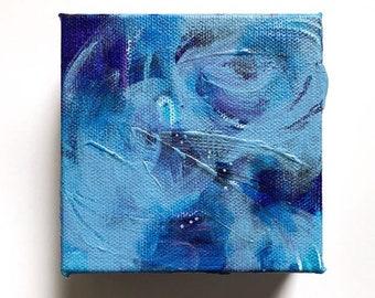 "4"" x 4"" Abstract Acrylic Painting - Modern Wall Art - #51/100"