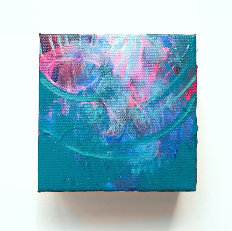 4 x 4 Abstract Acrylic Painting  Modern Wall image 0