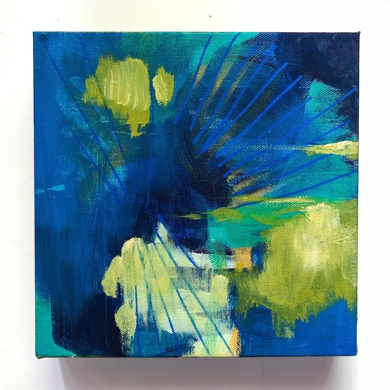 8 x 8 Abstract Acrylic Painting  Modern Wall Art image 0