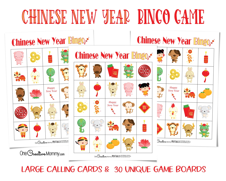 Chinese New Year Bingo Etsy