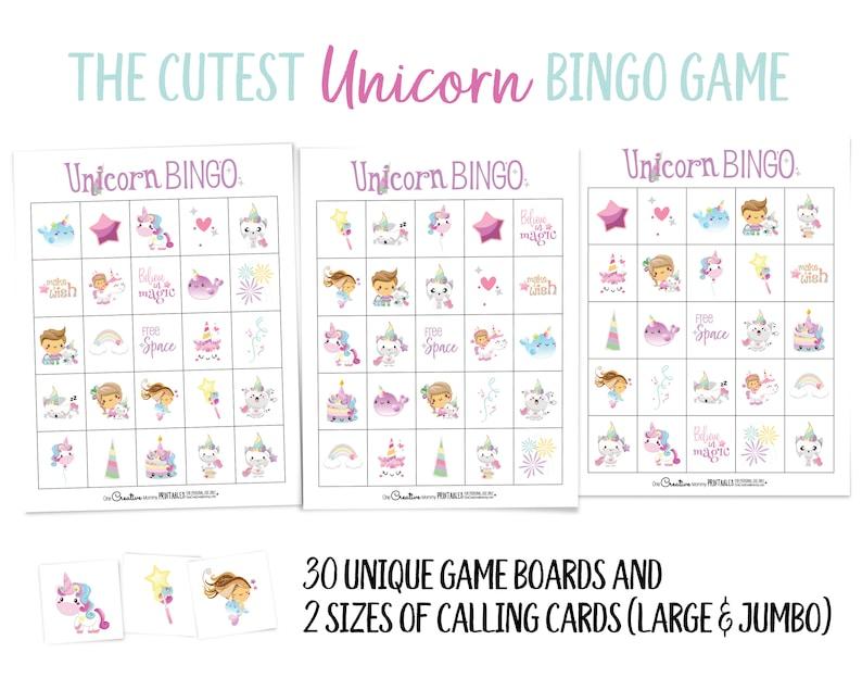 Unicorn Bingo Game image 0