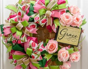 Amazing Grace Door Wreath, Hymn wreath