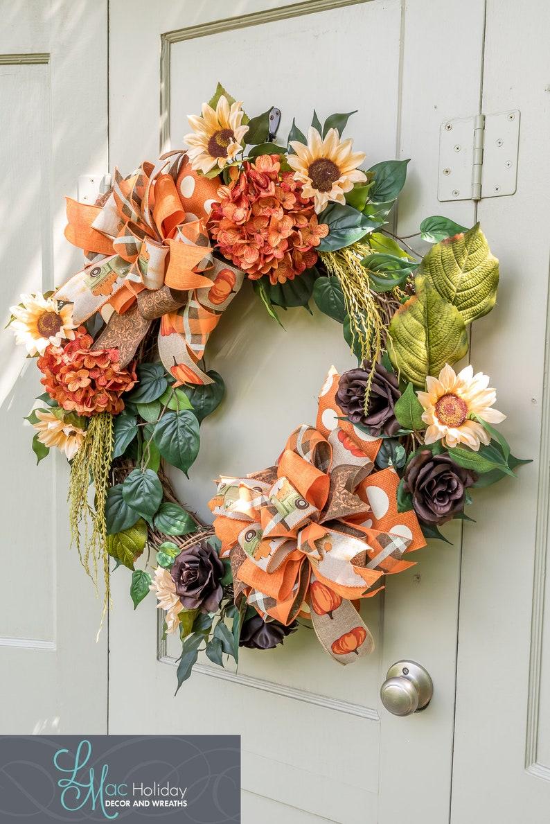 Fall grapevine door wreath Fall Door Wreath Door Wreath Welcome Wreath Autumn Decor Autumn Door Wreath Fall Decor
