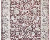 Hand Knotted Gorgeous Classic All over designer Handmade Floral Area Rug Size 7 39 11 quot x 10 39 02 quot