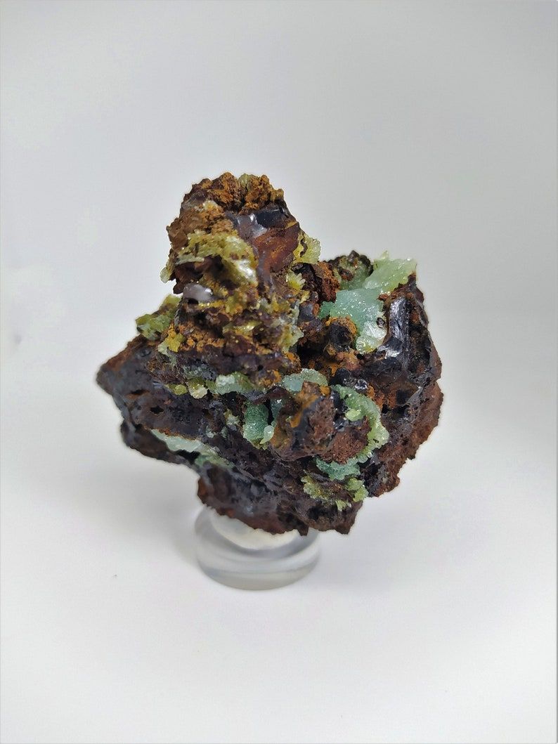 Bright green Cuprian Adamite crystals Rare Collection Best Quality  Greek minerals Cuprian green Rare Crystals Healing