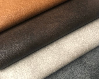 TANNER PVC Leatherette FabricWith Suedette Look Backing