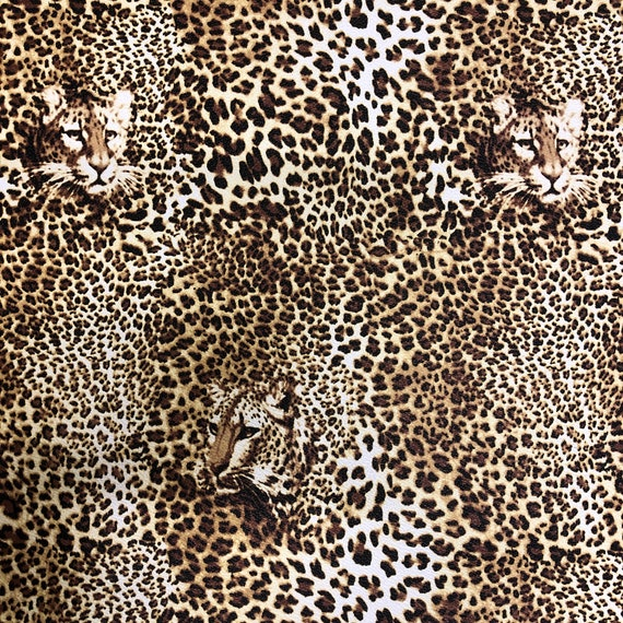 LEOPARDAnimal Print Faux LeatherVinyl FabricAvailable in 2 Colours