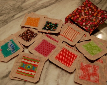Funky Flowers Fabric Memory Game